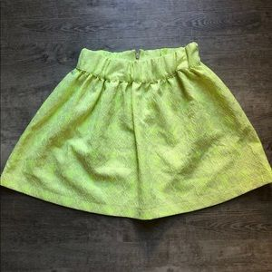 Zara yellow skirt size M